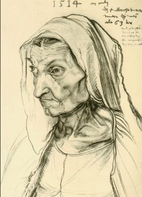 Альбрехт Дюрер. Портрет Барбары Дюрер, матери художника