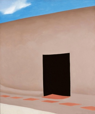 Georgia O'Keeffe. The courtyard and the shadows