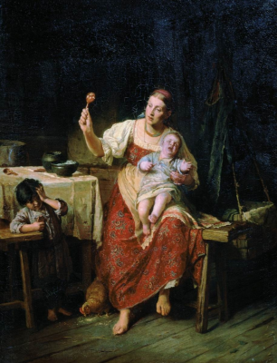 Firs Sergeevich Zhuravlev. Stepmother. Saratov State Art Museum. A.N. Radishcheva