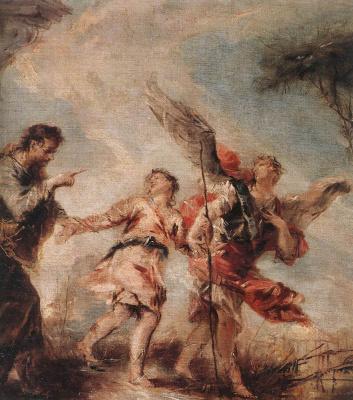 Giovanni Antonio Guardi. The Departure Of Tobias