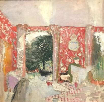 Jean Edouard Vuillard. Red dining room
