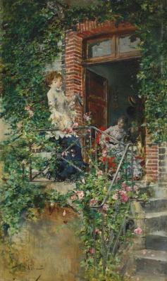 Giovanni Boldini. On the terrace