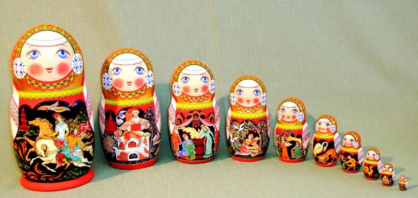 Natalya Minaeva. Russian tales Tula costume