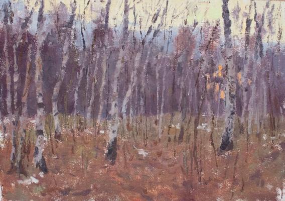 Igor Igorevich Krieger. By sunset autumn