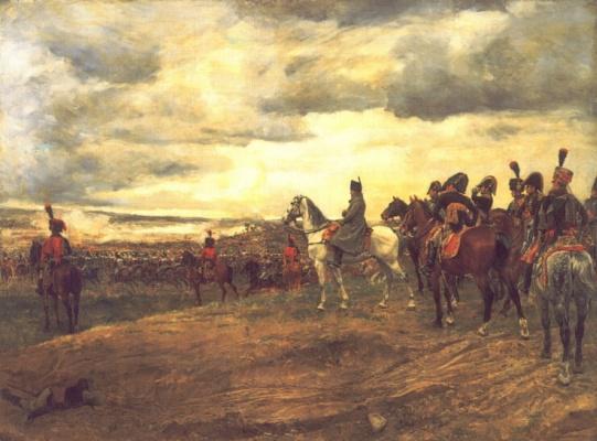 Жан-Луи-Эрнест Месонье. Наполеон наблюдает за сражением при Фридланде