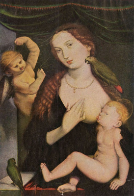 Ханс Бальдунг. Мадонна с попугаем