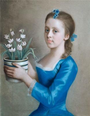Портрет юной девушки, возможно Каролины Рассел