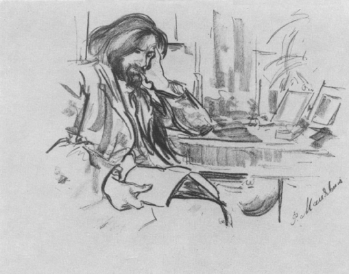 Filipp Andreevich Malyavin. Portrait of the sculptor V. A. Beklemishev. Sketch.