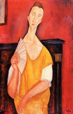 Амедео Модильяни. Женщина с веером (Луня Чеховска)
