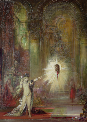 Gustave Moreau. Prophecy: the appearance of the head of John the Baptist before Salome
