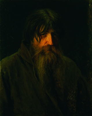 Ivan Nikolayevich Kramskoy. Head of an old peasant