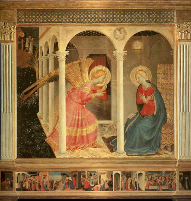 Fra Beato Angelico. Annunciation. Altar of Diochezano