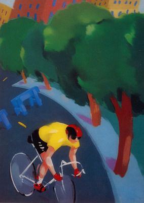 Пэтти Драйден. Велосипедист