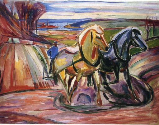 Edvard Munch. Spring plowing