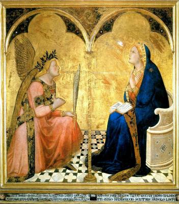 Ambrogio Lorenzetti. The Annunciation