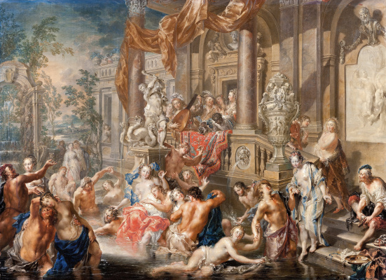 Johann Georg Platzer. The scene in the fountain in front of the Palace