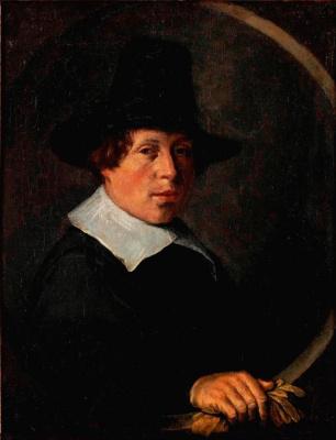 Judith Leyster. The man with the gloves. Portrait of Vincent Laurens van der wine