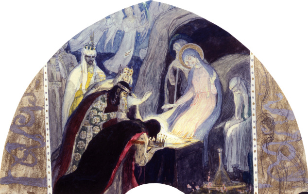 Mikhail Vasilyevich Nesterov. Christmas (Bow to kings). The sketch for the painting of the North wall of the Church in the name of blagovernogo Prince Alexander Nevsky