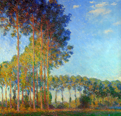 Claude Monet. Poplar