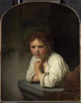 Рембрандт Харменс ван Рейн. Девочка у окна