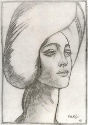 Lev (Leon) Bakst. Portrait of Madame T.