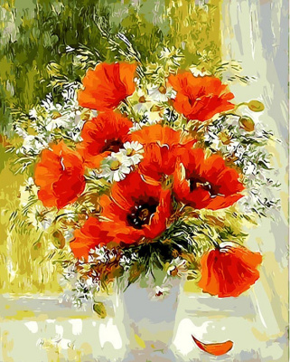 Tais. Poppies and daisies