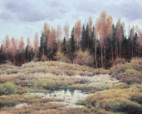 Vasily Ivanovich Gribennikov. Gloomy autumn day