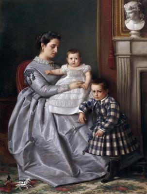 Виктор Мансано. Портрет семьи художника