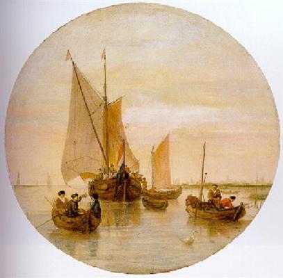 Хендрик Аверкамп. Голландские рыболовные лодки на реке