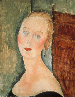 Amedeo Modigliani. Blonde. Portrait Of Germaine Survage Was