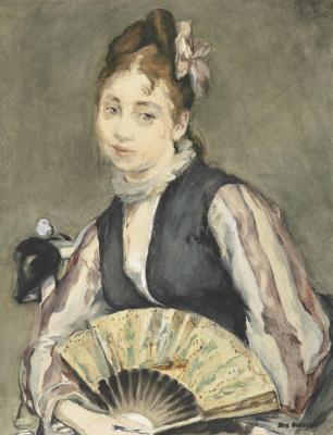 Eva Gonzalez. Portrait of Jeanne Gonzalez
