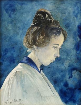 Хильма аф Клинт. Self-portrait
