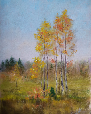 Алина Евгеньевна Шварёва (Галкина). Tender autumn landscape
