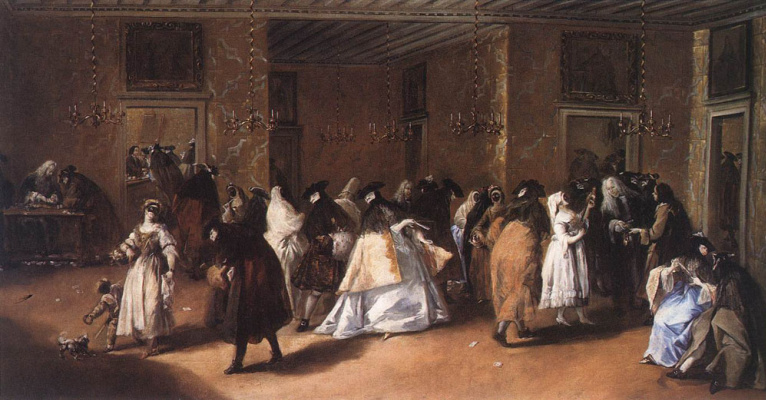 Francesco Guardi. In the lobby