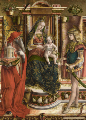 Carlo Crivelli. Madonna with a swallow (fragment)