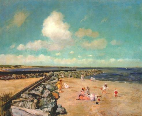 William Merritt Chase. In the morning on the breakwater, Shinnecock