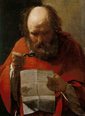 Georges de La Tour. Saint Jerome reading
