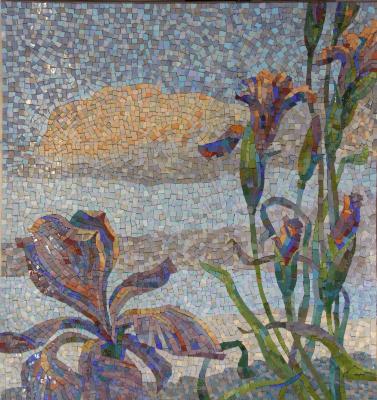 Александр Сергеевич Кривонос. Irises. Facade. Fragment.