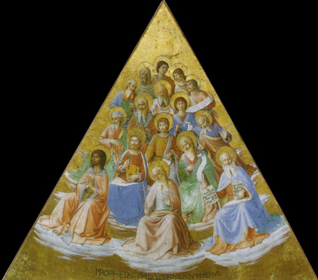 Fra Beato Angelico. Prophets Fragment of the fresco of the chapel of the Madonna di San Brisio