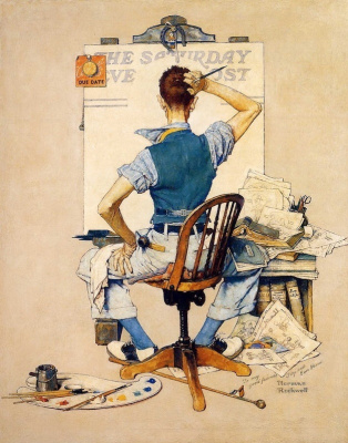 Norman Rockwell. The deadline