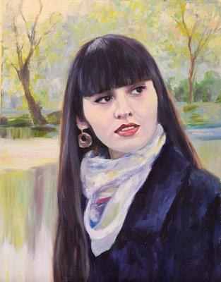 Mila Kaneyeva. Portrait of a girl