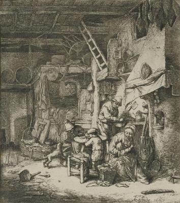 Adrian Jans van Ostade. Peasant family