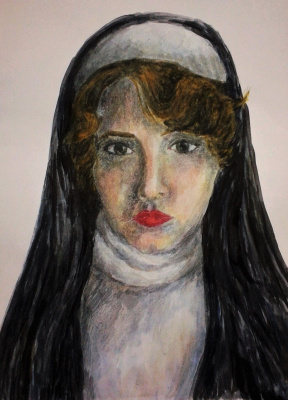 Zina Vladimirovna Parisva. Self-portrait in the image of nuns