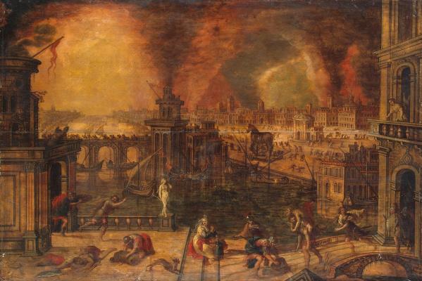 Керстиан де Кейнинк. Пожар Трои