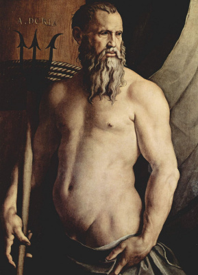 Agnolo Bronzino. Portrait of Andrea Doria as Neptune