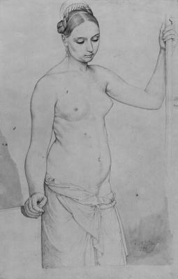 Julius Schnorr von Karolsfeld. Standing Nude model