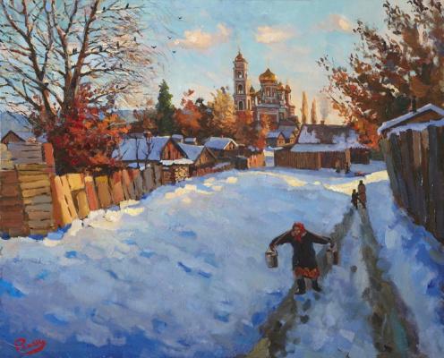 Yuri Ivanovich Roman. Frosty morning