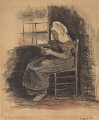 Винсент Ван Гог. Женщина, чистящая картофель