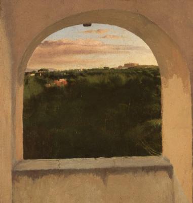 Italian landscape window