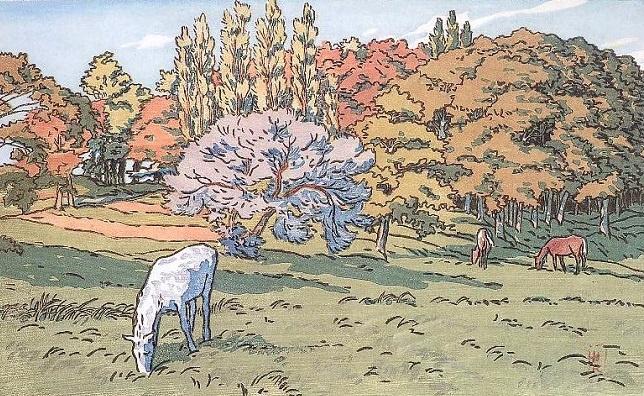 Анри (Henri) Ривьер (Rivière). Petit bois au Beret